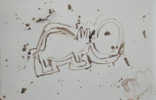 Anon everyday object stick and mud drawing 01